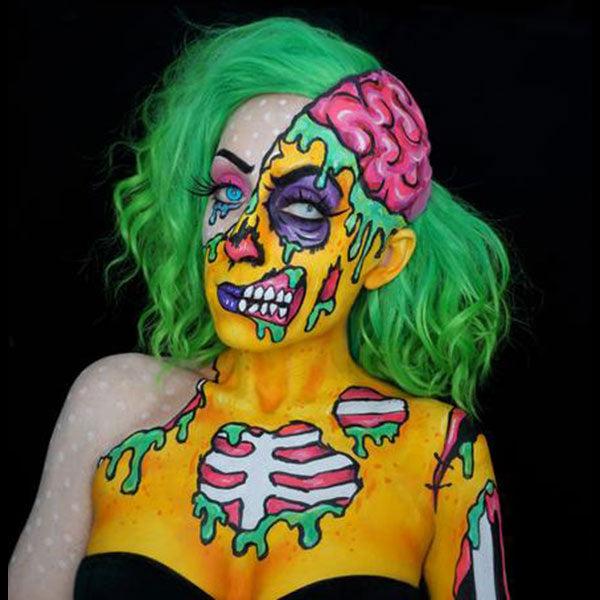 Zombie Unicorn Body Painting photo 13