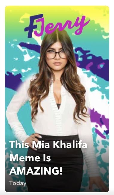 Mia Khalifas Snapchat photo 9