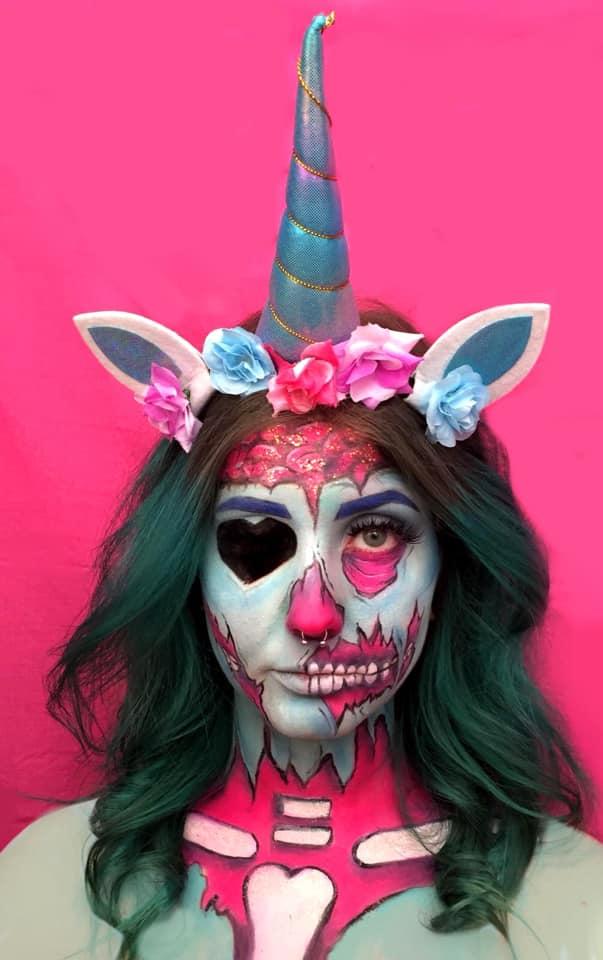 Zombie Unicorn Body Painting photo 6